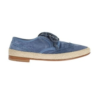 Dolce & Gabbana Dolce & Gabbana Blue Leather Casual Derby Shoes