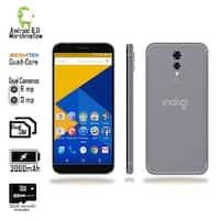 Indigi Unlocked 4G LTE 5.6-inch Android 6 SmartPhone (8MP CAM + Fingerprint Scan + 2SIM Slots + 32gb microSD) Black