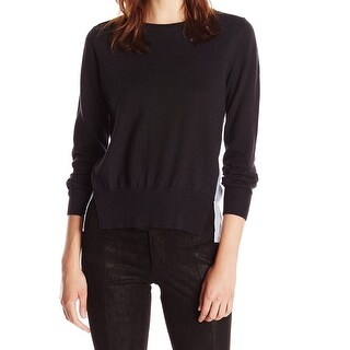 French Connection Black Womens Size Medium M Long-Sleeve Knit Top