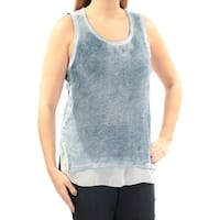 INC Womens Blue Tank Sleeveless Scoop Neck Top  Size: L