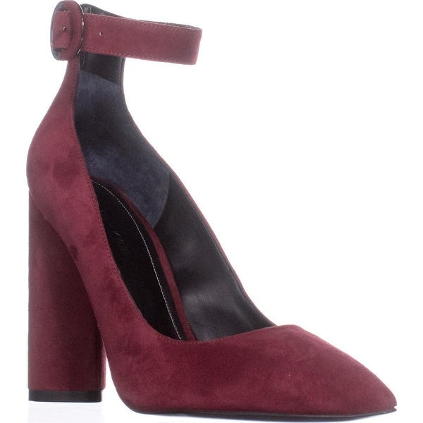 KENDALL + KYLIE Gloria Ankle-Strap Pumps, Dark Red