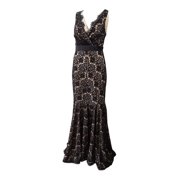 e93513e250e6 Shop Betsy & Adam Women's Lace Empire Gown (10, Black/Nude) - Black/Nude -  10 - Free Shipping Today - Overstock - 25447997