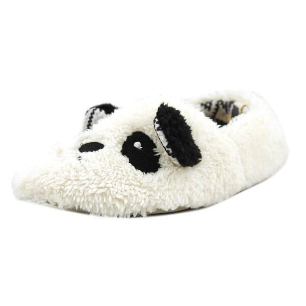 Kensie Panda Scuff Slipper Women Round Toe Synthetic White Slipper