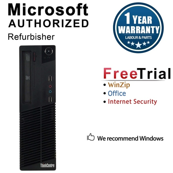 Lenovo ThinkCentre M72E Desktop Computer SFF Intel Core I5 3470 3.2G 16GB DDR3 1TB Windows 10 Pro 1 Year Warranty (Refurbished)