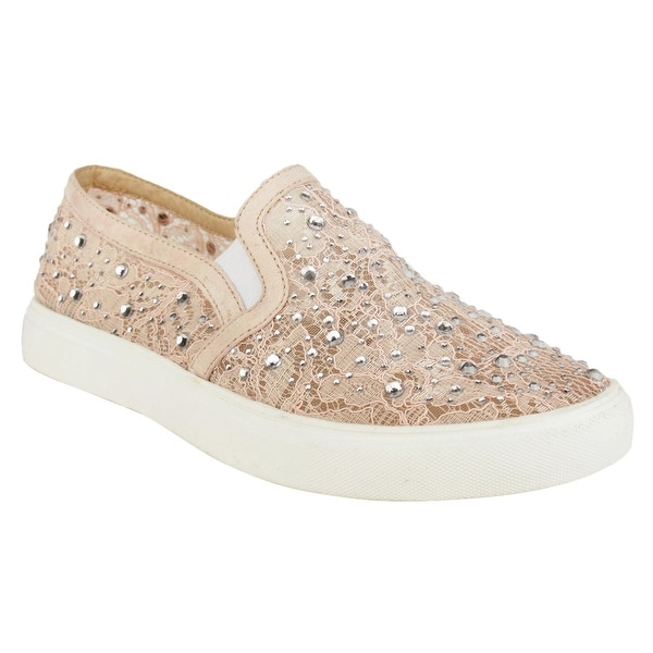 Not Rated Womens Zora Fabric Low Top Slip On Fashion Sneakers - 9.5