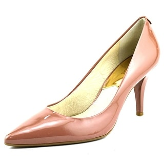 Michael Michael Kors Flex Mid Pump Pointed Toe Patent Leather Heels