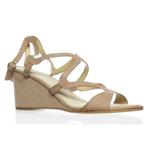 a6e7cbfed9f Chinese Laundry Womens Radical Dark Nude Suede Ankle Strap Heels Size 9