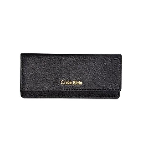 Calvin Klein Womens Organizer Wallet Saffiano Flap - o/s