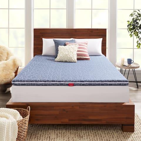 American Bedding 3 Inch Dual-Sided Hybrid Mattress Topper