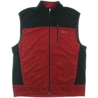 Greg Norman for Tasso Elba Mens Fleece Two Tone Vest