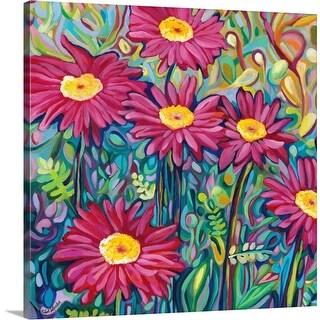 """Happy Daisies"" Canvas Wall Art"