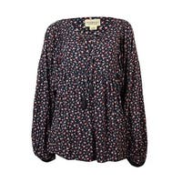 Denim & Supply Women's Floral Peasant Blouse - navy combo - s