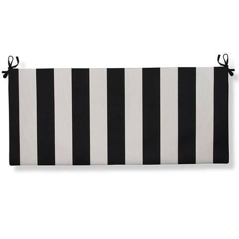 Tuxedo Stripe Bench Cushion With Ties 45 x 18 x 3