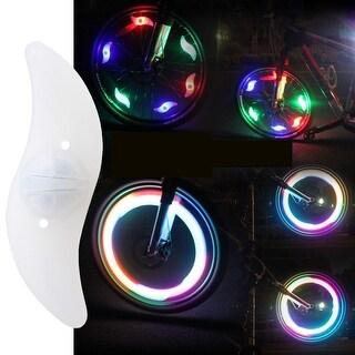 Image 6PCS LED Bike Spoke Wheel Lights Bicycle Valve Tire Rim Safety Lights