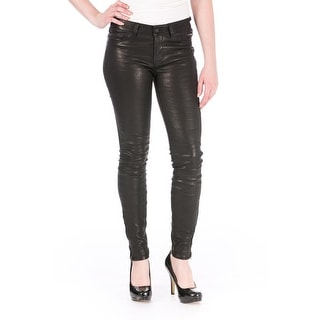 J Brand Womens Leather Flat Front Skinny Pants - 32