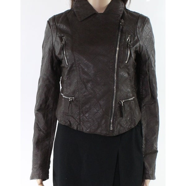 Downtown Coalition Brown Womens Size Medium M Motorcycle Jacket