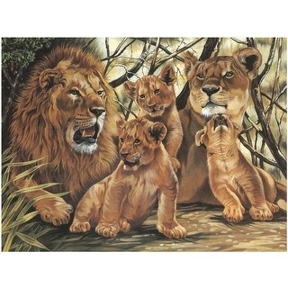 """Paint By Number Kit 12""""X16""""-Pride Of Lions"""