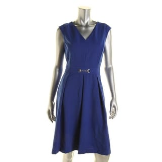 Ellen Tracy Womens Pleated Sleeveless Wear to Work Dress - 2