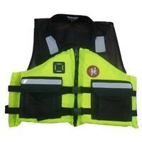 First Watch AV-500 Industrial Mesh Vest (USCG Type III) - Hi-Vis Yellow/Black - X-Large