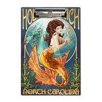 Holden Beach, NC - Mermaid - LP Artwork (Acrylic Clipboard)