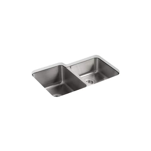 "Kohler Iron/Tones® 17"" X 18-3/4"" X 8-1/4"" Top-Mount/Undermount Single-Bowl Kitchen Sink Sea Salt (K-6584-Ff)"