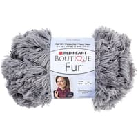 Red Heart Boutique Fur Yarn-Smoke
