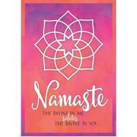 Tammy Apple Poster Print entitled Namaste - multi-color