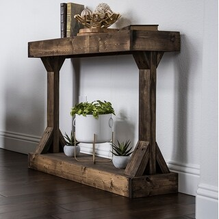 Link to Barb Small Rustic Solid Wood Console Table by Del Hutson Designs Similar Items in As Is