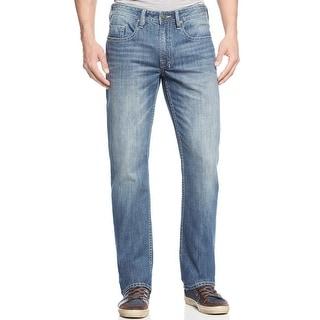 Buffalo By David Bitton Driven Straight Leg Jeans 30 x 32 Light Blue Wash