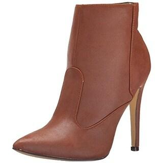 Michael Antonio Womens Maelin Booties Faux Leather Pointed Toe - 7.5 medium (b,m)