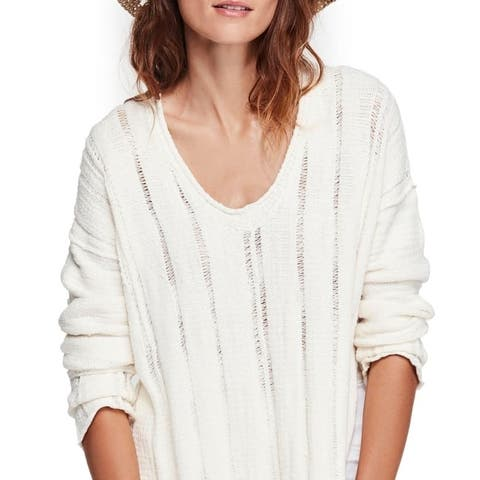 Free People Ocean Drive Pullover Ivory