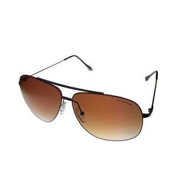 Kenneth Cole Reaction Sunglass Brown Rimless Aviator, Gradient Lens KC1236 50G - Medium