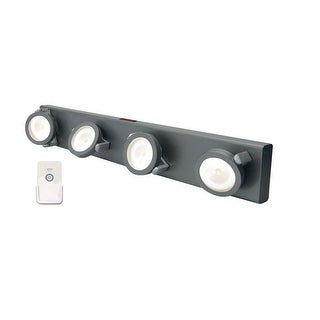 Rite Lite LPL704RC Under The Cabinet 4 Head Led Light With Remote, Gray
