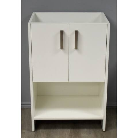Volpa USA Cabo 30-inch Freestanding Bathroom Cabinet in White