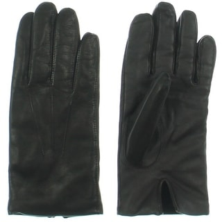 John W. Nordstrom Mens Leather Faux Fur Lined Everyday Gloves - M