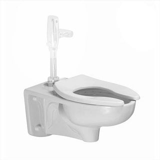 Afwall Ada Retro Universal Toilet with Everclean Top Spud - White