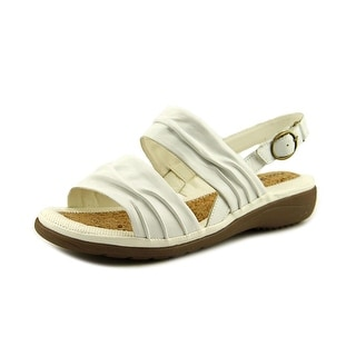 Hush Puppies Minetta Keaton Women Open-Toe Leather White Slingback Sandal