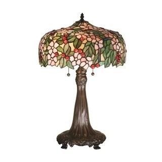 """Meyda Tiffany 15403 24.5"""" H Tiffany Cherry Blossom Table Lamp"""