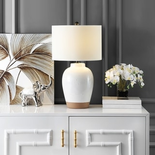 """Link to Safavieh Lighting Portcia 27-inch Speckled Ivory LED Table Lamp - 16"""" W x 16"""" L x 27.5"""" H Similar Items in Table Lamps"""