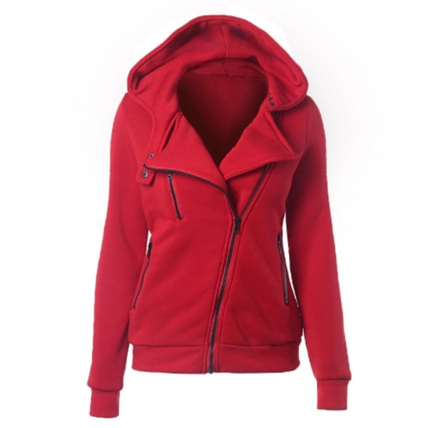 Thick Long Sleeve Zip Coat