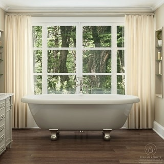 Pelham White Luxury 72 Inch Clawfoot Tub With Nickel Cannonball Feet Ping The Best Deals On Claw Foot Tubs