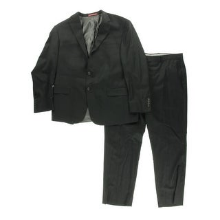 Hart Schaffner Marx Mens Solid 2PC Two-Button Suit - 44R