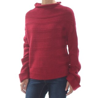 JESSICA SIMPSON Womens Red Ribbed Long Sleeve Sweater  Size XS