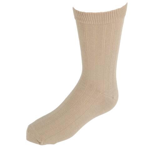 Jefferies Socks Kids' Cotton Ribbed Uniform Crew Socks