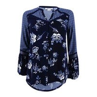 Style & Co Women's Petite Mixed-Print Blouse (PXS, Floating Garden) - floating garden - pxs