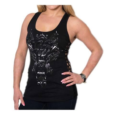 Harley-Davidson Women's Metal Gear Solid Premium Side Lace Sleeveless Tank Top