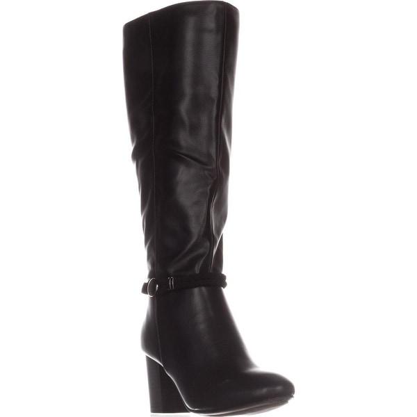 KS35 Galee Wide-Calf Dress Boots, Black