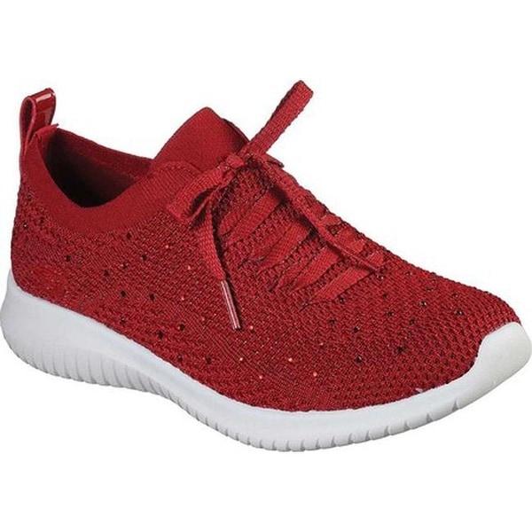Shop Skechers Women S Ultra Flex Strolling Out Sneaker Red