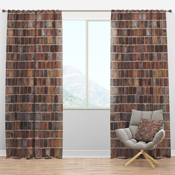 Designart 'Red Brick WallTexture' Modern Blackout Curtain Panel. Opens flyout.