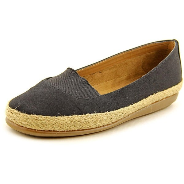 Aerosoles Counsoler Women W Round Toe Canvas Black Espadrille